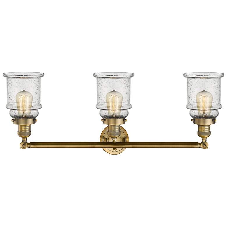 """Canton 30"""" Wide Brushed Brass 3-Light Adjustable Bath Light"""