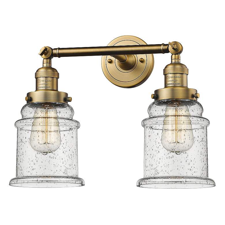 """Canton 11"""" High Brushed Brass 2-Light Adjustable Wall Sconce"""