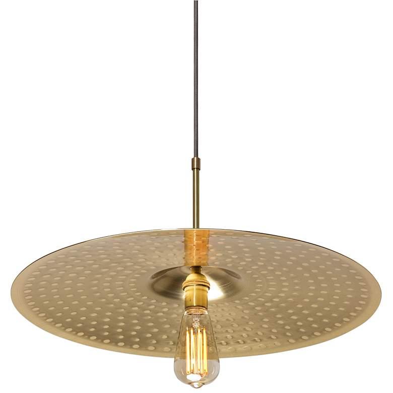 "Cerno Ico 20"" Wide Spun Solid Brass Pendant Light"