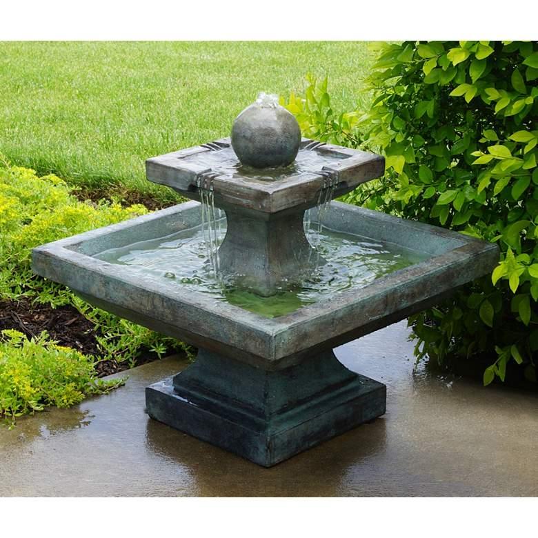 "Henri Studio Equinox 24""H Relic Azura LED Outdoor Fountain"