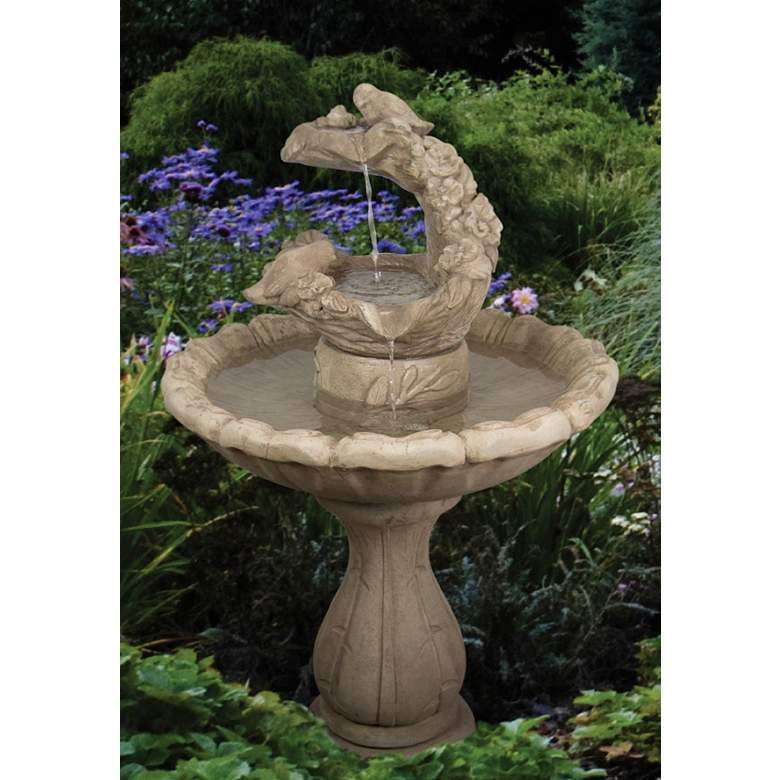 "Classic Springtime 41""H Sorrento Sandstone Outdoor Fountain"