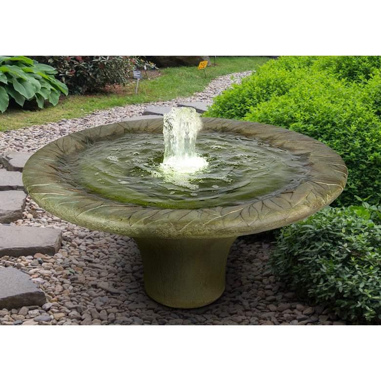 "Leaf Motif 20"" High Relic Hi-Tone LED Outdoor Fountain"