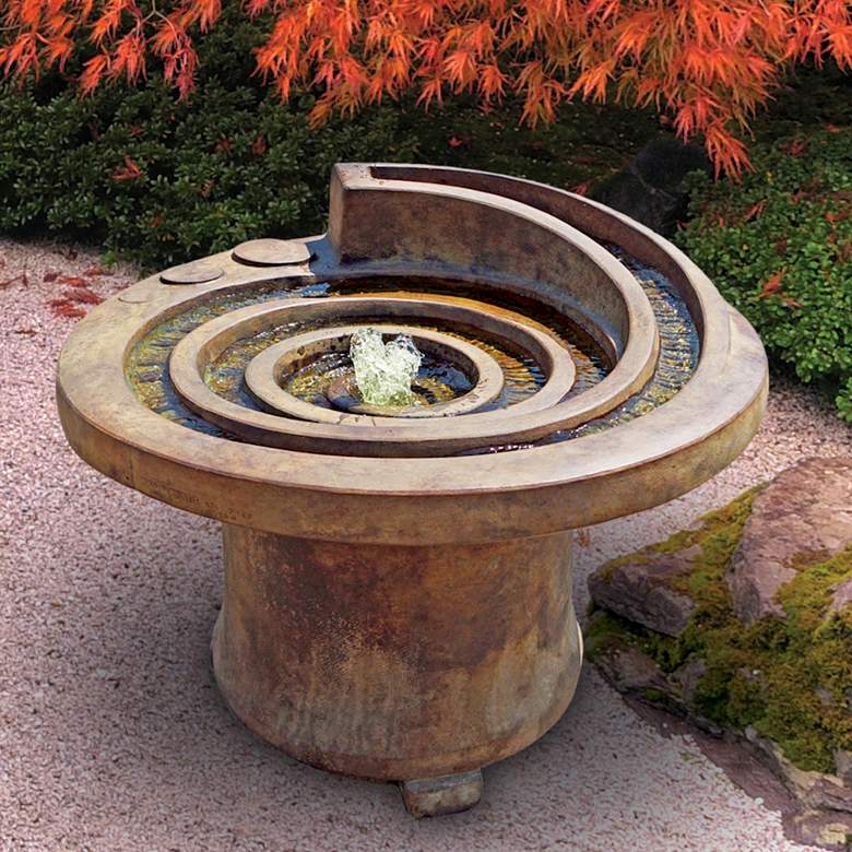 "Hurricane's Eye 21"" High Relic Lava LED Patio Fountain"