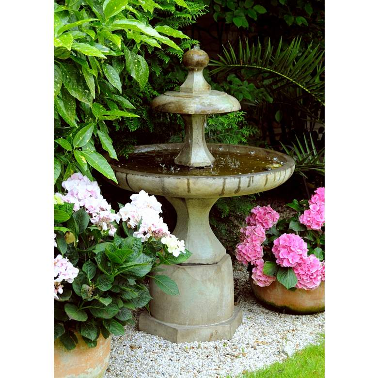 "Plateau 48 1/2"" High Relic Sargasso Outdoor Floor Fountain"