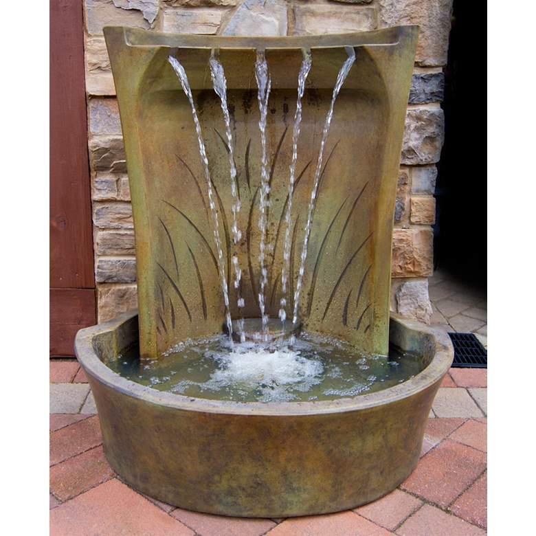 "Henri Studio Aria 42"" High Relic Nebbia LED Outdoor Fountain"