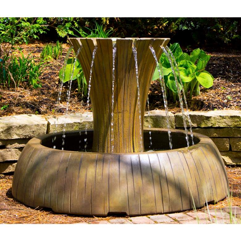 "Henri Studio Radiance 36"" High Relic Nebbia Outdoor Fountain"