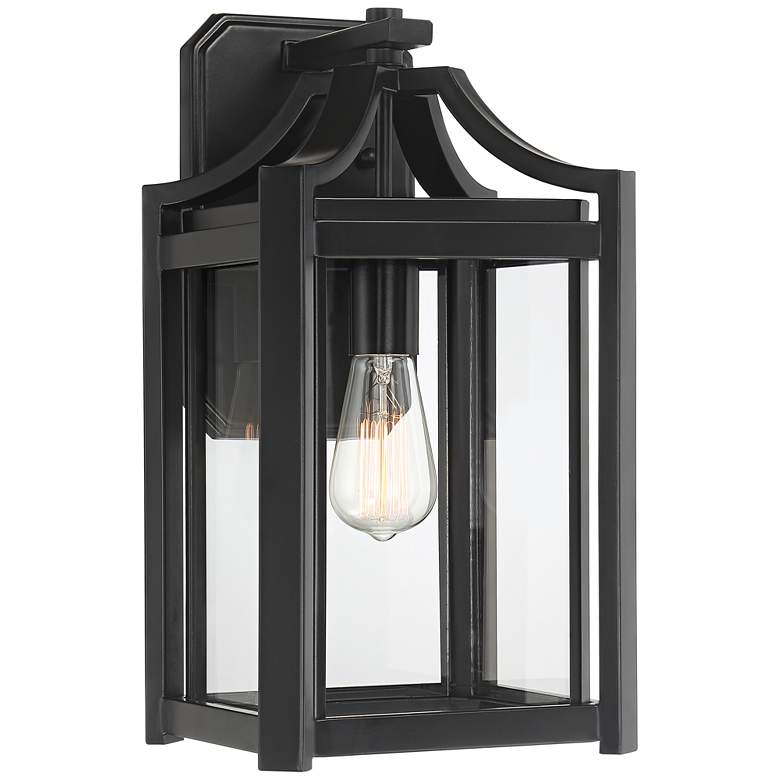 "Rockford Collection 16 1/4"" High Black Outdoor Wall Light"