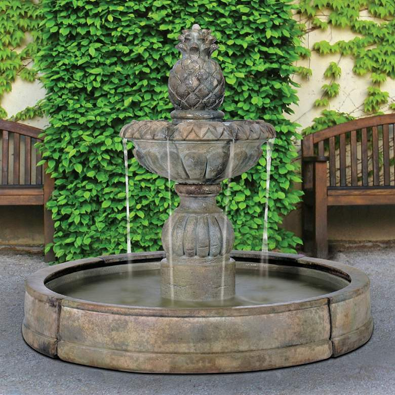 "Pina Cascada in Valencia Pool 57"" High Relic Nebbia Fountain"