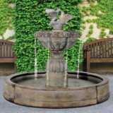 "Paloma Cascada 56"" High Traditional Stone Pool Fountain"