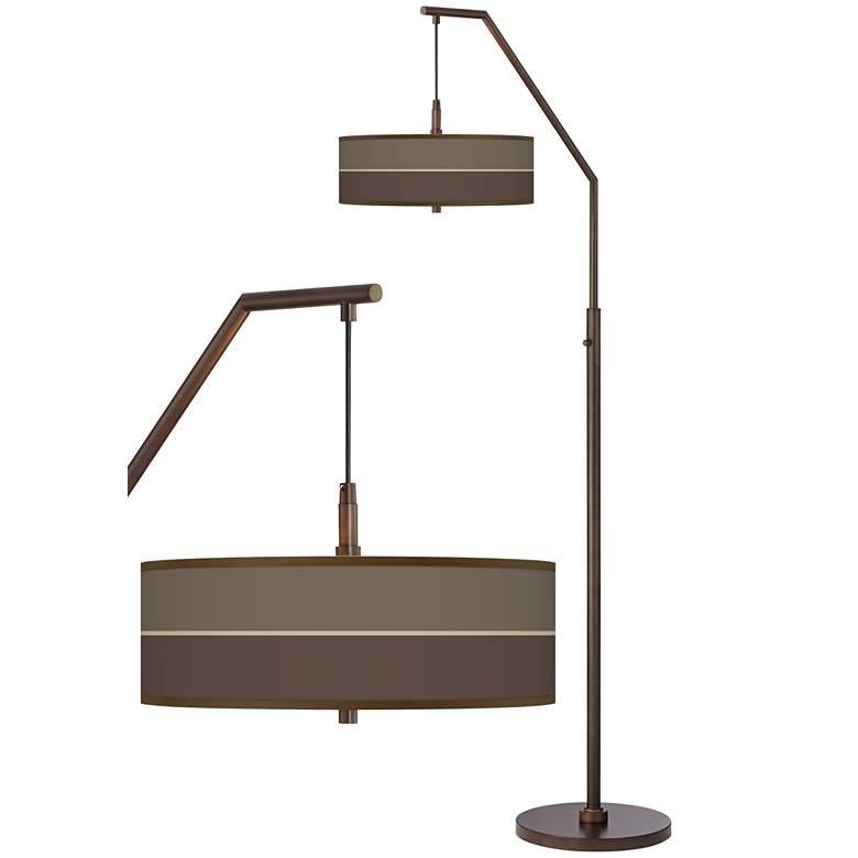 Lakebed Set Bronze Downbridge Arc Floor Lamp
