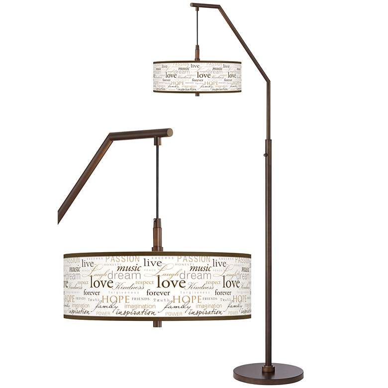 Positivity Bronze Downbridge Arc Floor Lamp