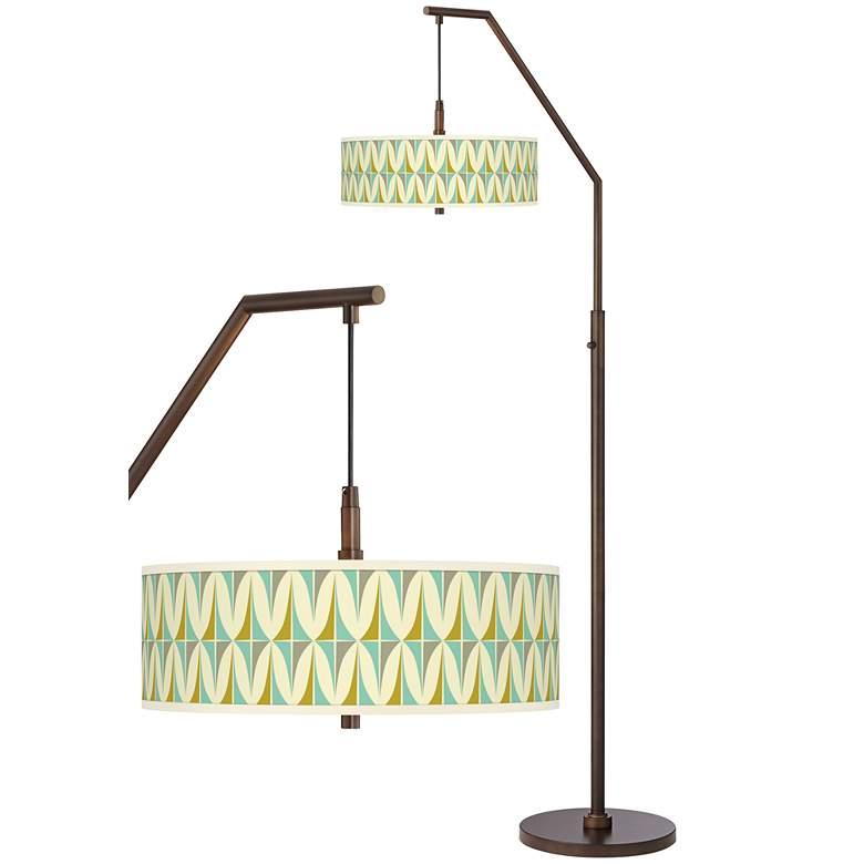 Vernaculis I Bronze Downbridge Arc Floor Lamp