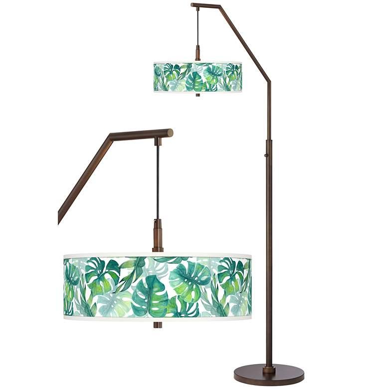 Tropica Bronze Downbridge Arc Floor Lamp