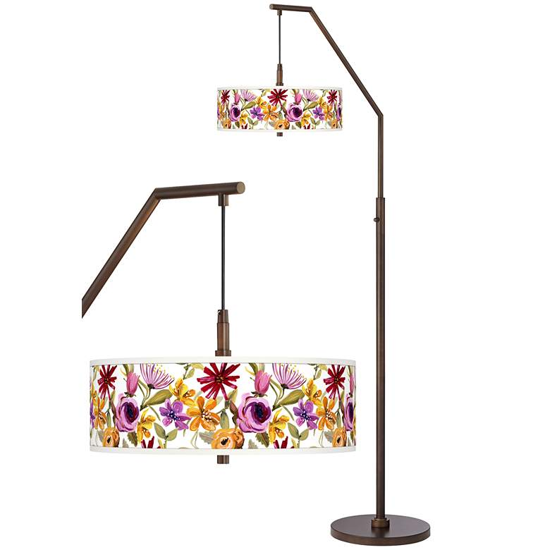 Bountiful Blooms Bronze Downbridge Arc Floor Lamp