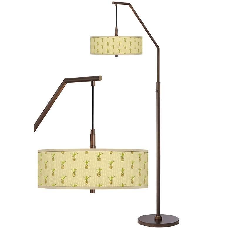 Pineapple Delight Bronze Downbridge Arc Floor Lamp