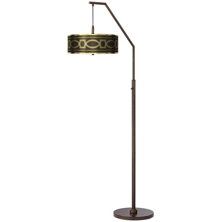 Concave Gold Metallic Bronze Downbridge Arc Floor Lamp