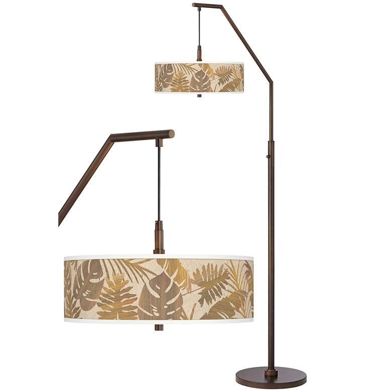 Tropical Woodwork Bronze Downbridge Arc Floor Lamp