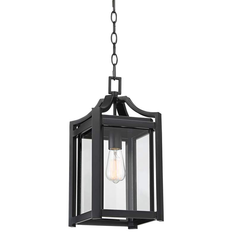"Rockford Collection 17"" High Black Outdoor Hanging Light"