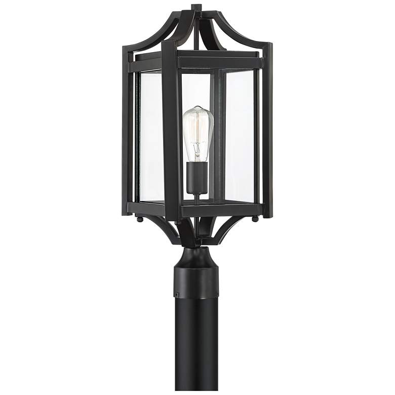 """Rockford Collection 20 1/4"""" High Black Outdoor Post Light"""