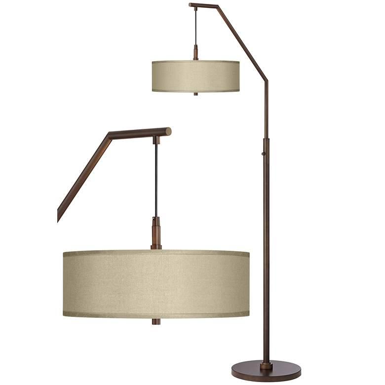 Sesame Polyester Bronze Downbridge Arc Floor Lamp