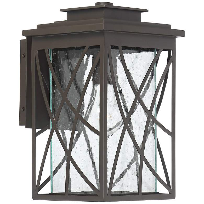 """Cieran 12 1/2"""" High Geometric Bronze Outdoor Wall Light"""
