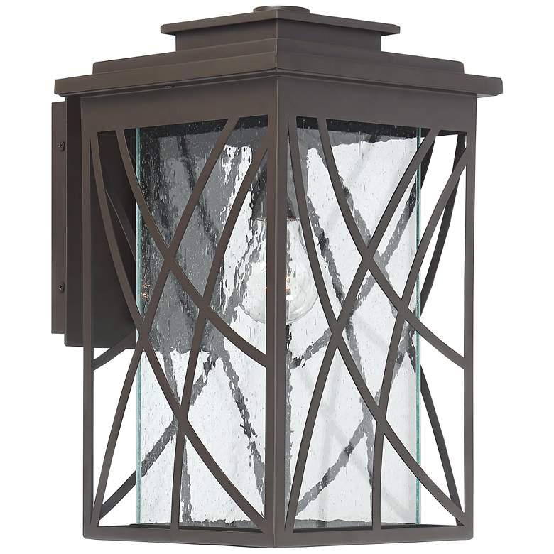 """Cieran 15 1/4"""" High Geometric Bronze Outdoor Wall Light"""