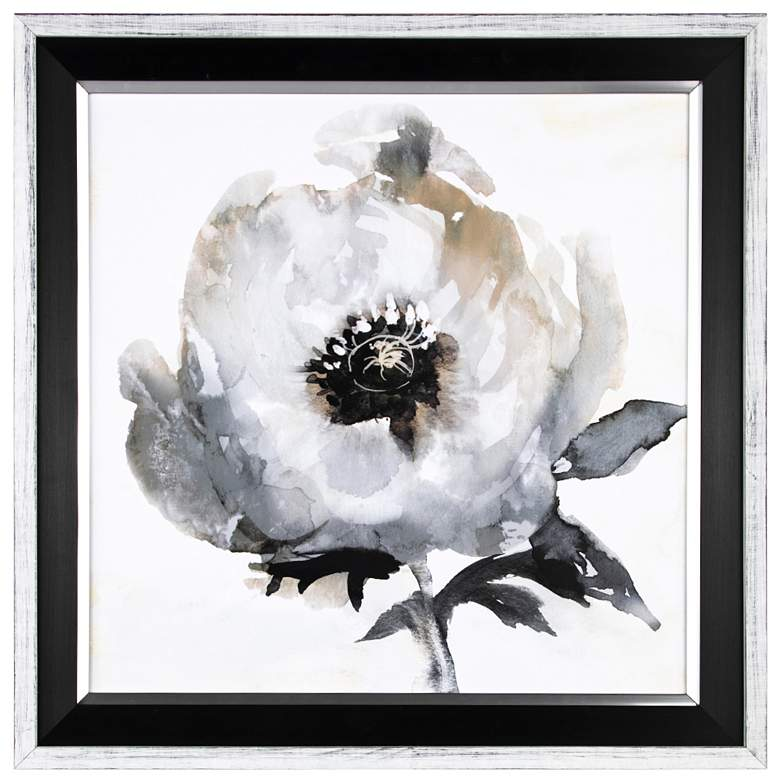 """Crestview Collection Floral II 26"""" Square Framed Wall"""