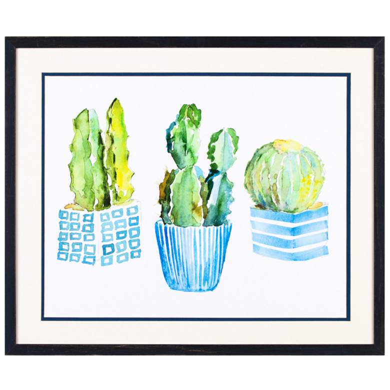 """Crestview Collection Potted II 26 1/4"""" Wide Framed"""