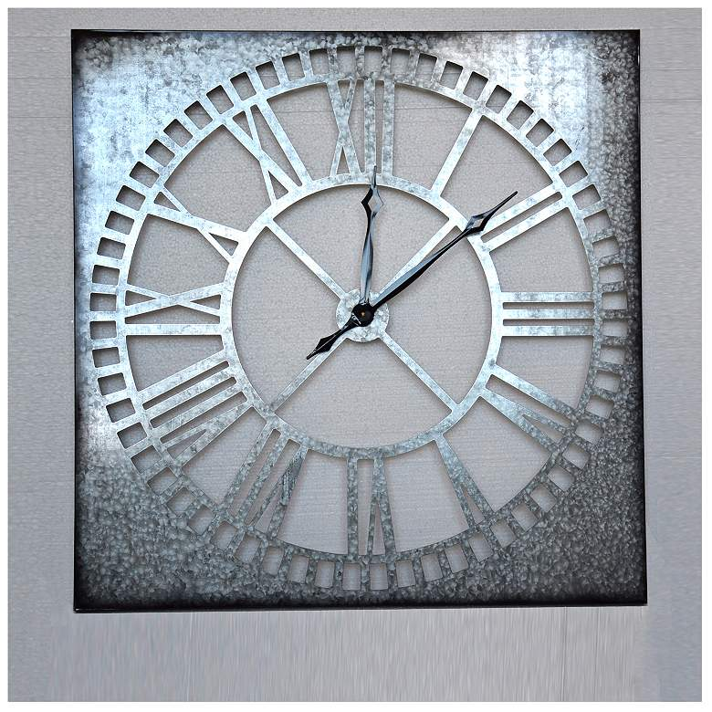 """Crestview Collection Metal Time 36"""" Square Wall Clock"""