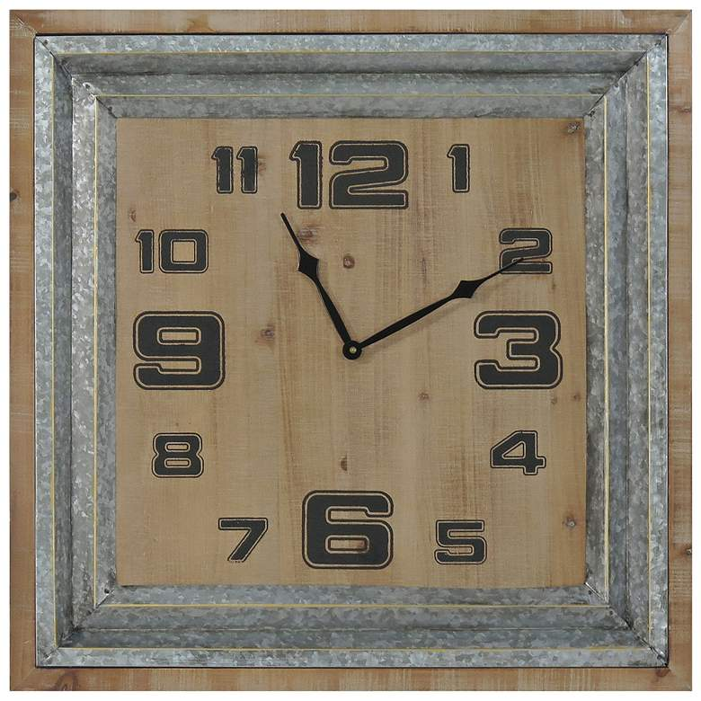 """Crestview Collection Time Forward 23 1/2"""" Square Wall Clock"""