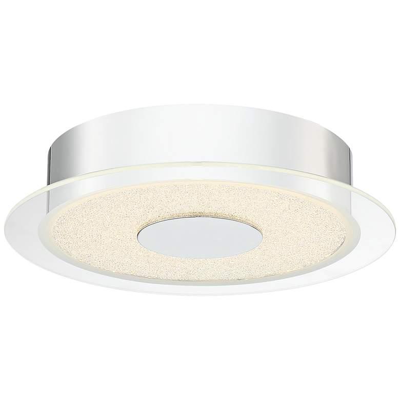 "Possini Euro Crystal Sand 11""W LED Chrome Ceiling Light"