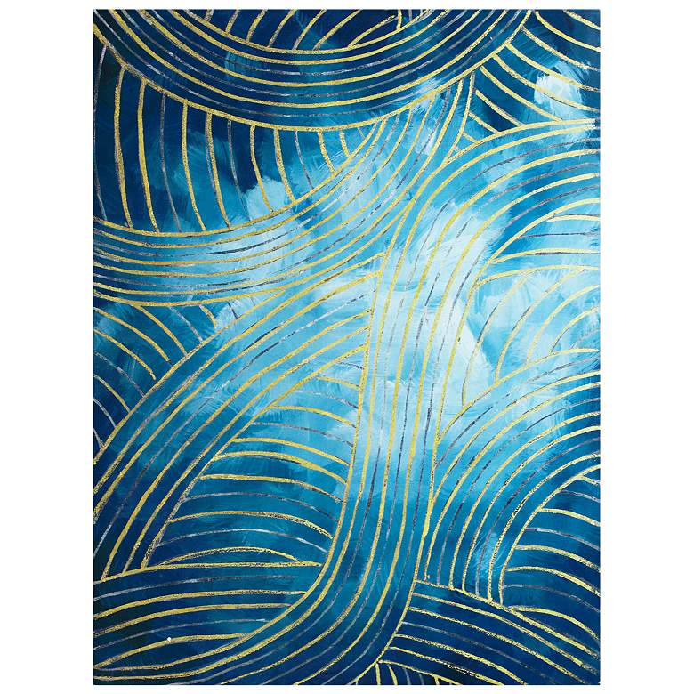 """Crestview Collection Crossover 40"""" High Canvas Wall Art"""