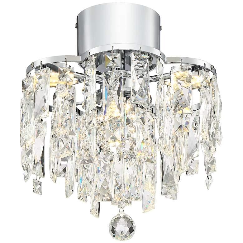 """Villette 12"""" Wide Chrome Flushmount LED Ceiling Light"""