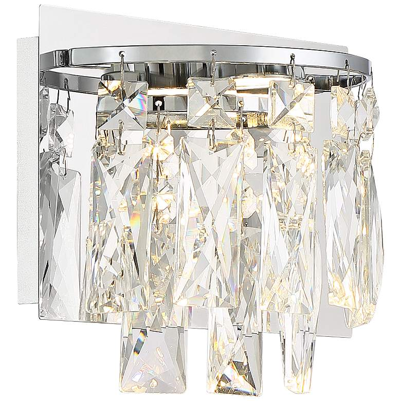 """Villette 6 3/4"""" High Chrome and Crystal LED Wall Sconce"""