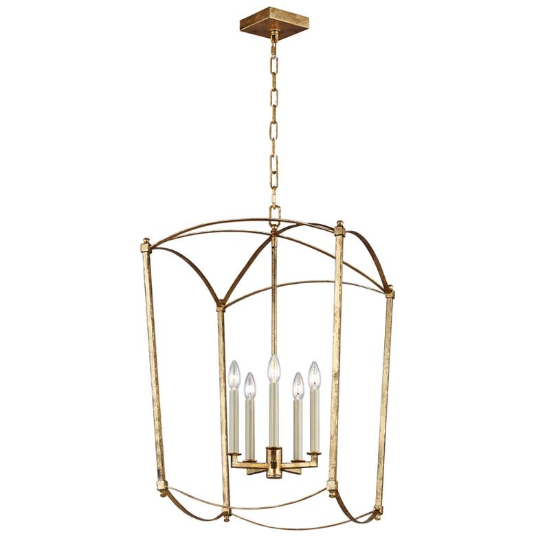 """Feiss Thayer 19 1/4"""" Wide 5-Light Antique Guild Chandelier"""