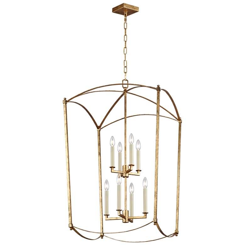 "Feiss Thayer 24""W 8-Light Antique Guild Lantern Chandelier"