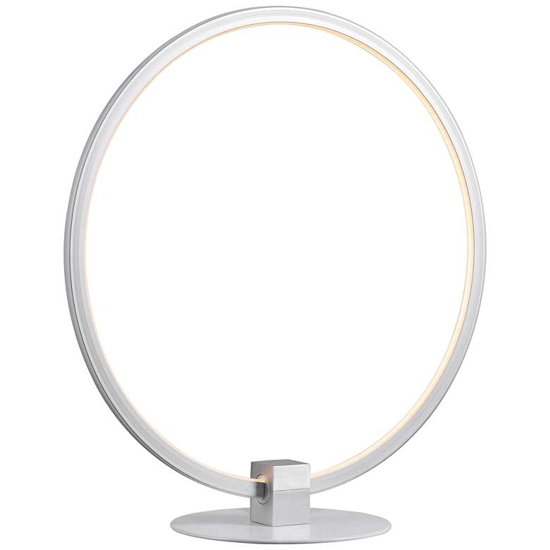 "Kenroy Home Aurora 15""H Painted White LED Accent Table Lamp"