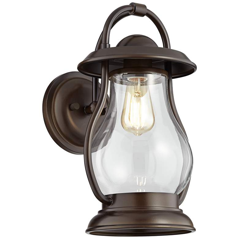 """Boston 15 1/2"""" High Oil-Rubbed Bronze Outdoor Wall Light"""