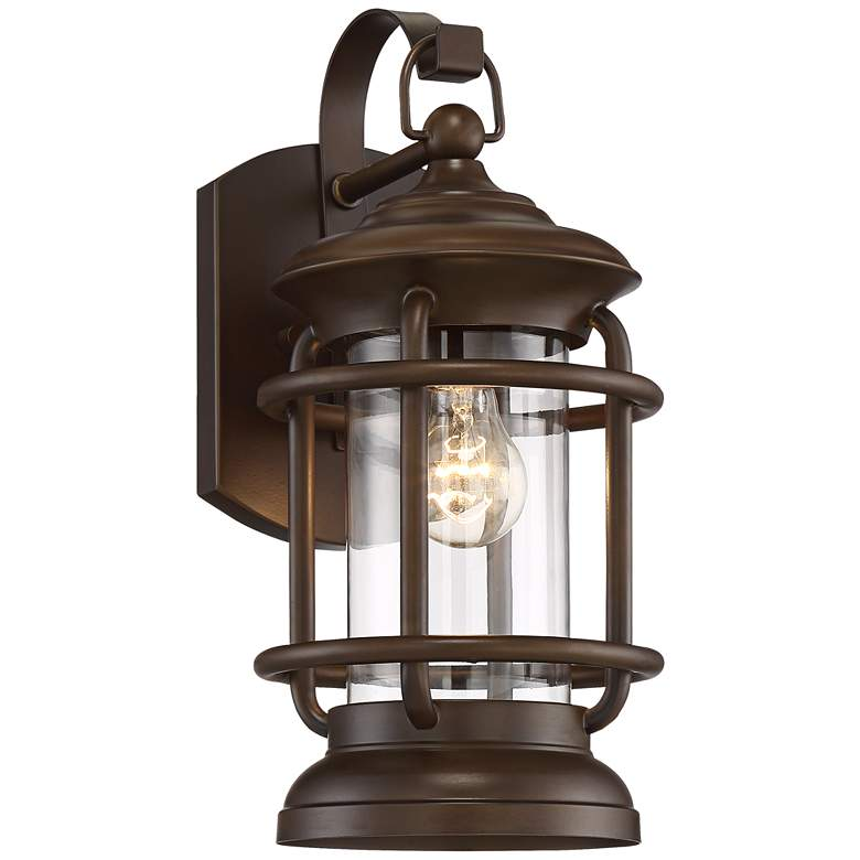 """Vermont 16 1/4"""" High Oil-Rubbed Bronze Outdoor Wall Light"""