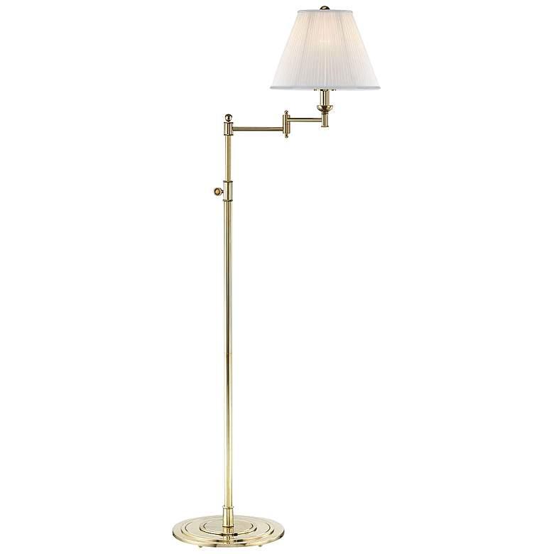 Signature No.1 Aged Brass Swing Arm Floor Lamp