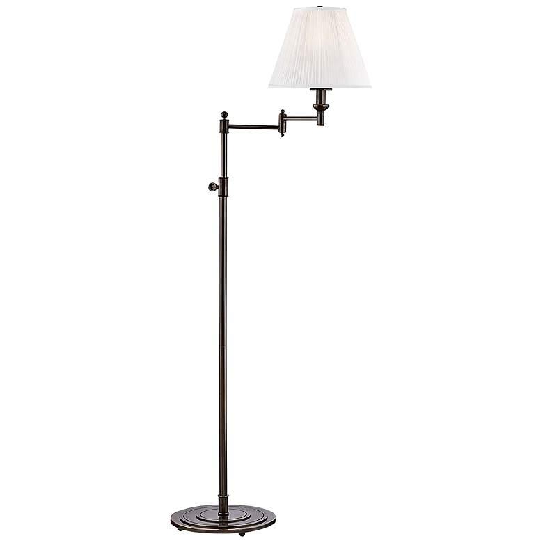 Signature No.1 Distressed Bronze Swing Arm Floor Lamp