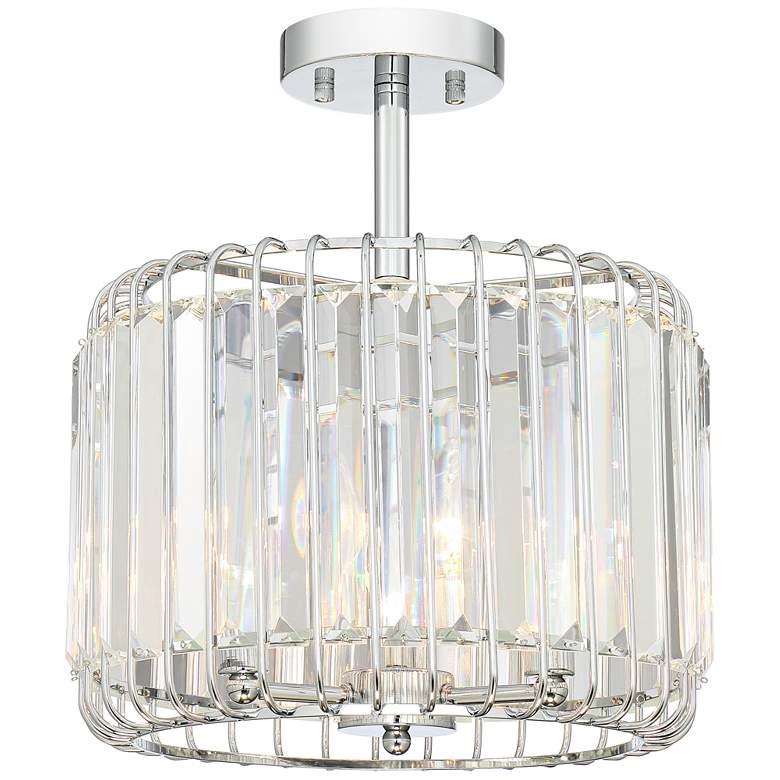 Possini Euro Deacon 13 Wide Crystal Ceiling Light