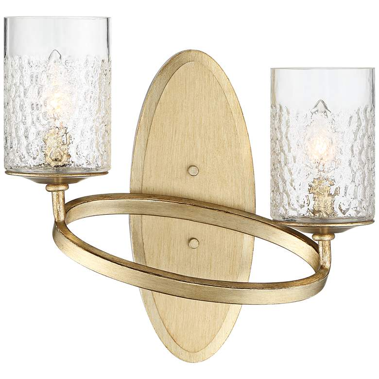 "Possini Euro Amryn 13 1/2""H Gold Champagne Wall Sconce"