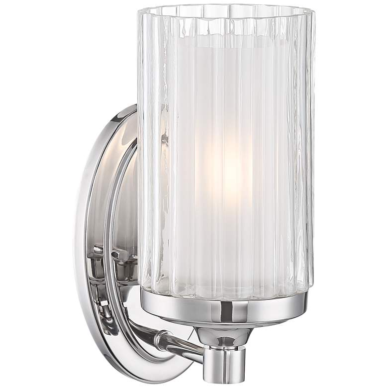 """Possini Euro Dembry 10 1/4"""" High Double Glass Wall Sconce"""