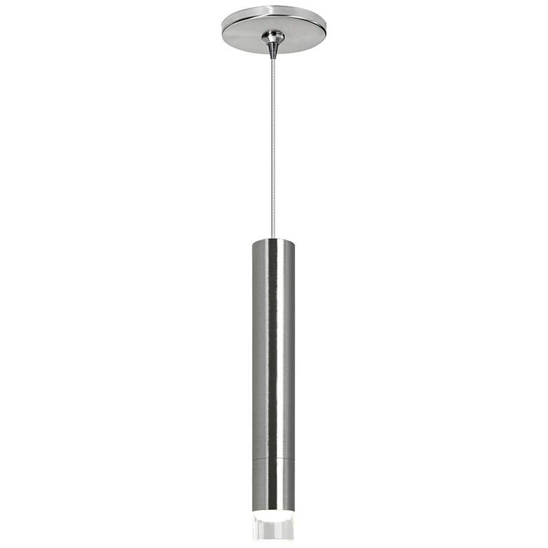 "Moxy 3/4"" Wide Satin Nickel Slim Freejack LED Mini Pendant"