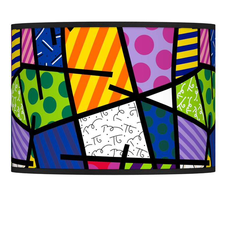 Britto Abstract Giclee Lamp Shade 13.5x13.5x10 (Spider)