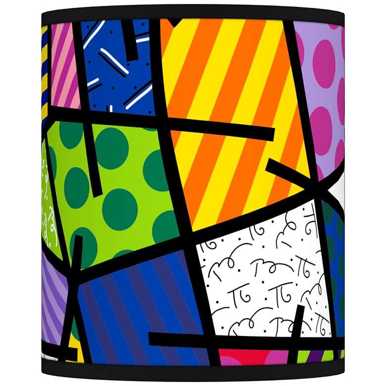 Romero Britto Abstract Giclee Shade 10x10x12 (Spider)