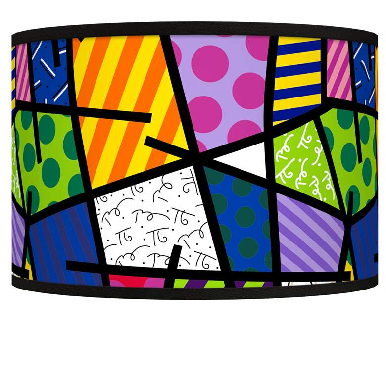 Romero Britto Abstract Giclee Shade 12x12x8.5 (Spider)