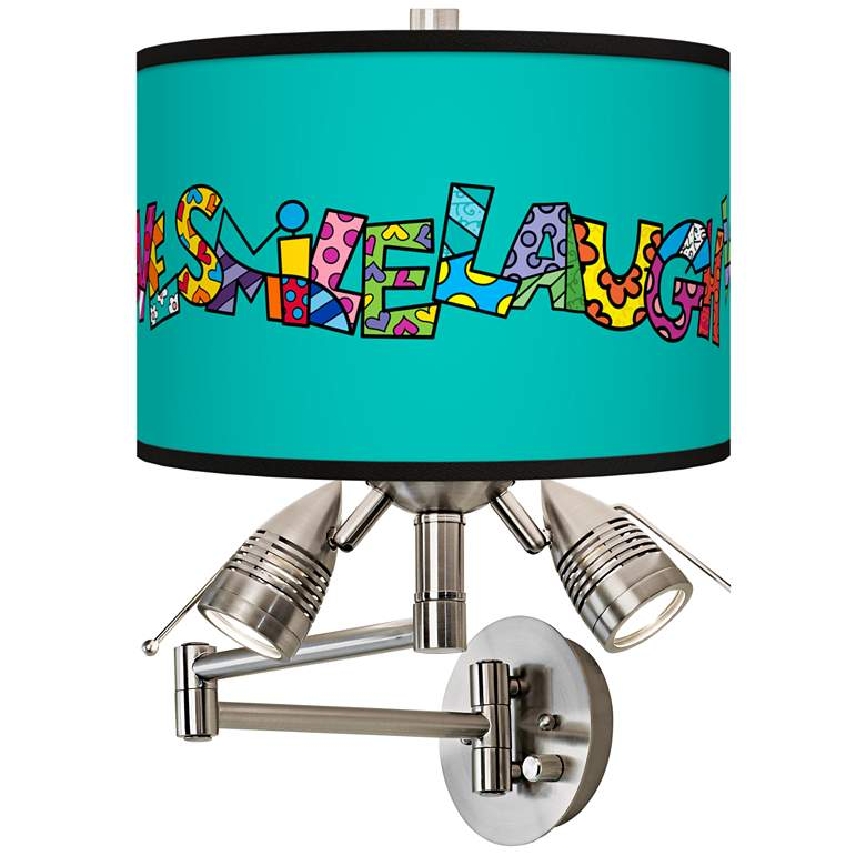 Britto Love Smile Giclee Swing Arm Wall Lamp