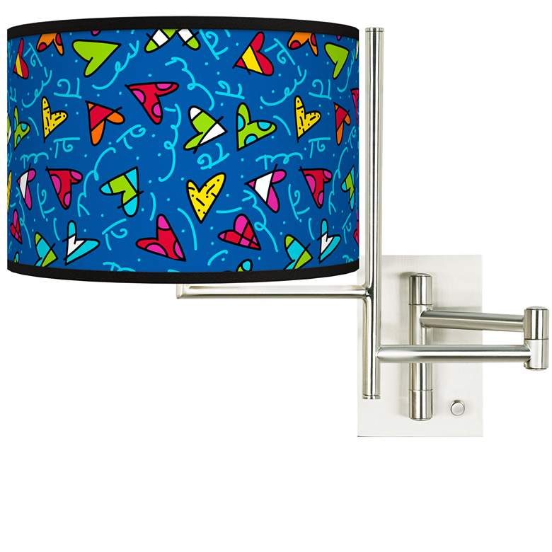 Tempo Britto Hearts Plug-in Swing Arm Wall Lamp